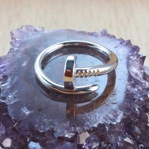 NWT Nail Ring Sterling Silver